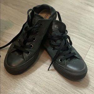 Black on black converse all star
